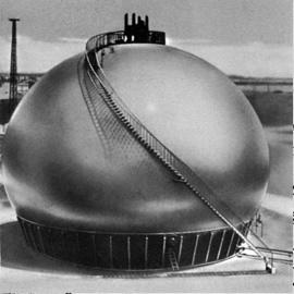 Tank spheroid for chemical plant